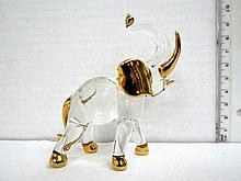Glass figurine, elephant shaped