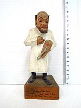 Carved wooden figurine, by Prestel, Germany,