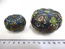 Two Chinese cloisonne boxes, different sizes,