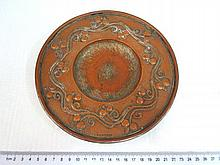 Copper saucer, Art Nouveau style, by WH Mawson