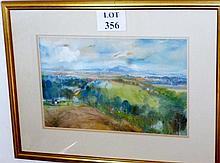 Alfred HACKNEY RWS (British 1926) - A framed and glazed watercolour landscape, signed lower right, 33 cm x 52 cm approx est: £65-£85