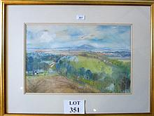 Alfred HACKNEY RWS (British 1926) - A framed and glazed watercolour landscape, signed lower right, 33 cm x 52 cm approx est: £55-£75