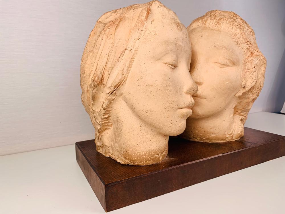 Double Bust Of Women, Dorothea Greenbaum (1893-1986)