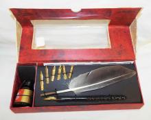 Feather Pen Set In Original Box