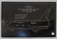 Nasa Challenger Memorial Plaque