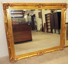 Large Mirror In Gilt Frame With Beveled Glass