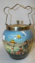 Biscuit Jar With Oriental Scene
