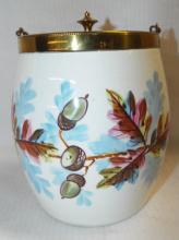 Hand Painted Biscuit Jar