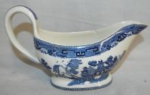 Wedgwood Willow Blue Transfer Sauce Boat