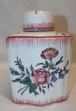 Soft Paste Decorated Jar With Lid