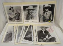 Group Of Autographed Photographs Of Cowboy Stars