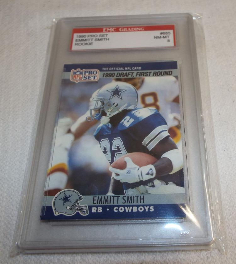 1990 Pro Set Emmitt Smith Rookie Football Card