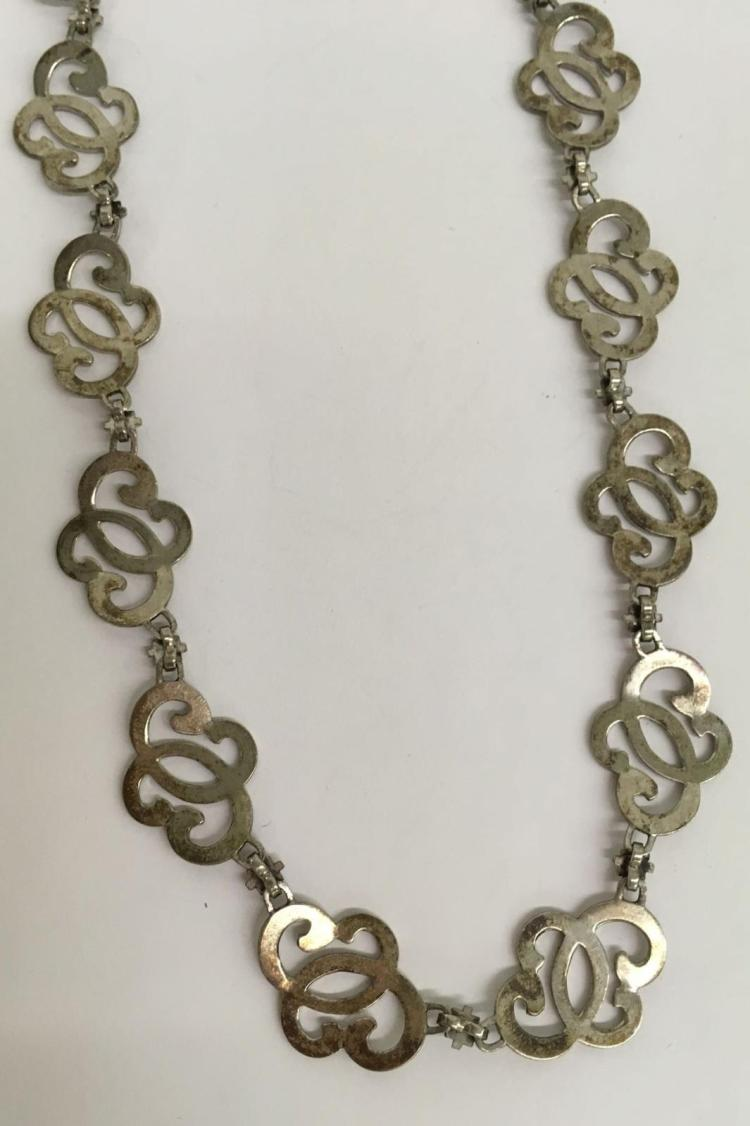 sterling silver matching necklace and bracelet