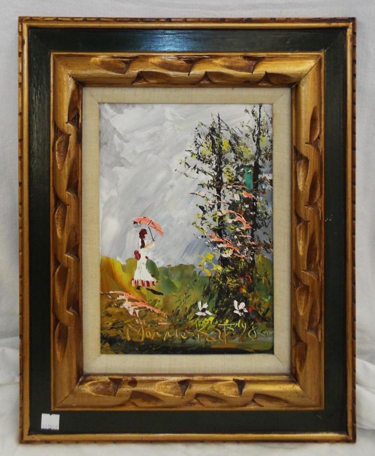Morris katz oil on board impressionist landscape for Katz fine art
