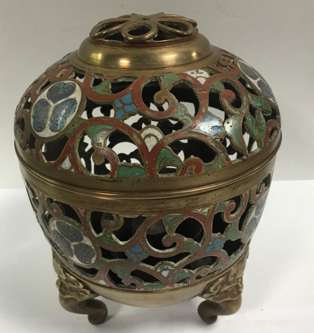 Oriental Cloisonne Incense Burner