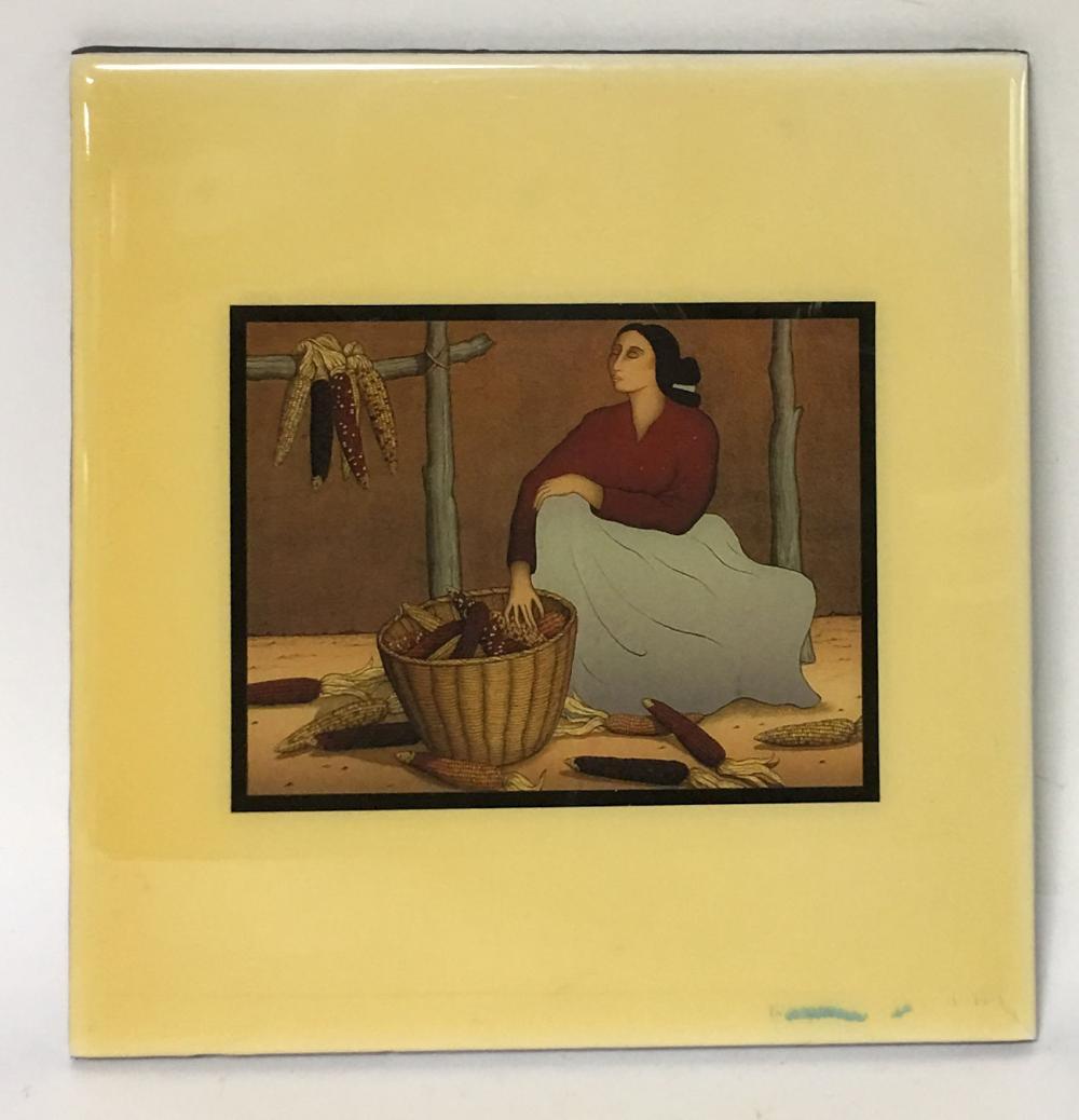 R. C. Gorman Tile, Sacred Corn