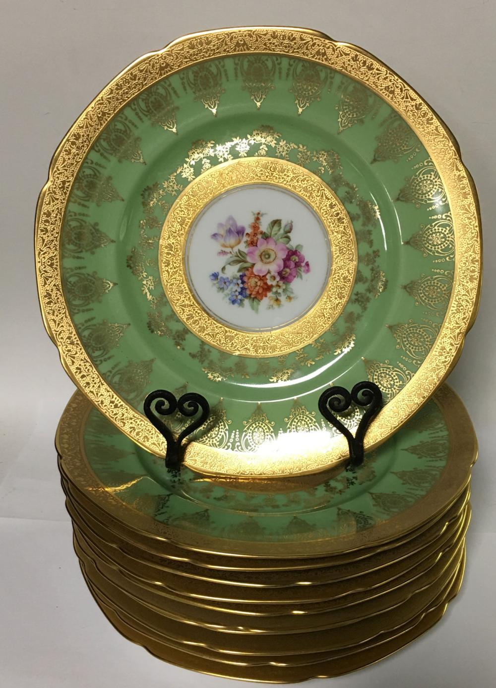 Set Of 11 Limoges France Porcelain Plates