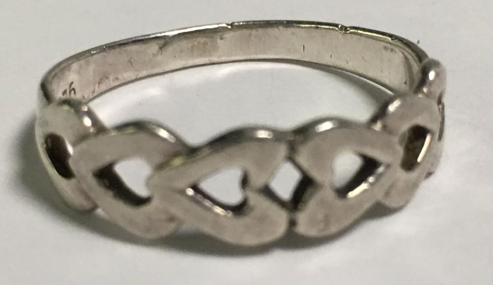 Sterling Silver Heart Link Ring