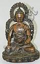 Oriental bronze Buddha