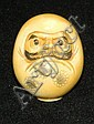 Oriental ivory decorated netsuke