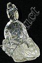 Quartz carved Buddha figure