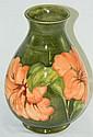 Moorecraft Hibiscus Vase in Green
