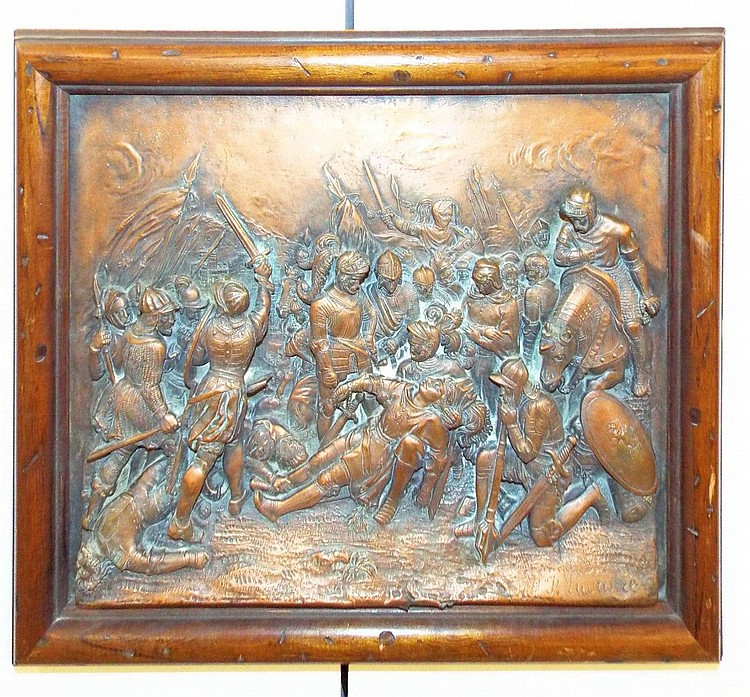 J. Lavastre Copper Plaque