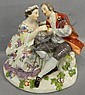 Meissen figural grouping, courting scene