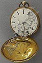 Henry Beguelin gold pocket watch,18 kt. gold