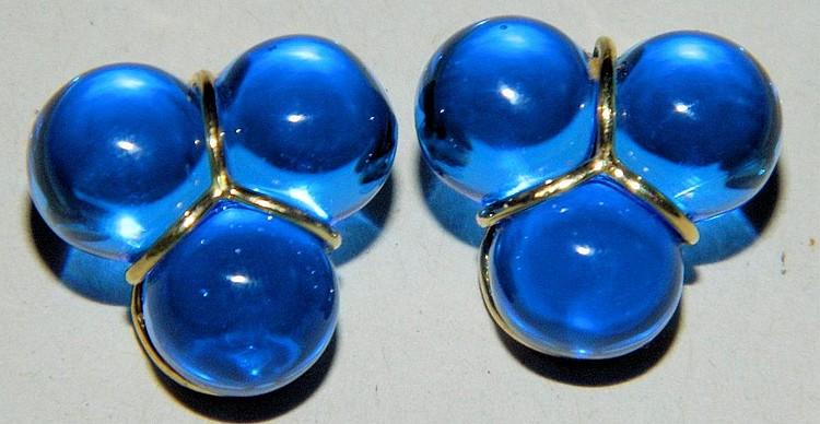 Pair of 18k gold earrings
