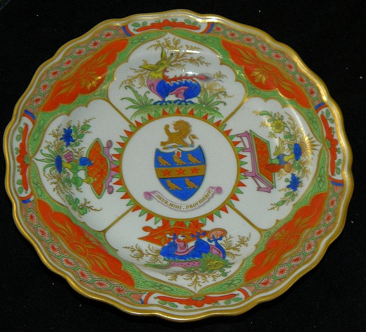 Armorial Worcester Plate, ca. 1800