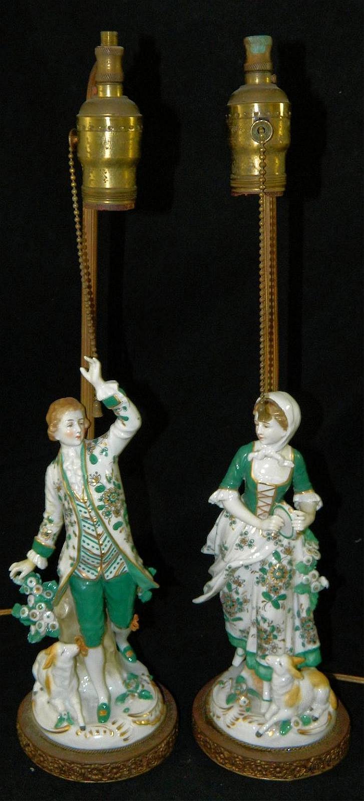 Pair of Figural Lamp Bases