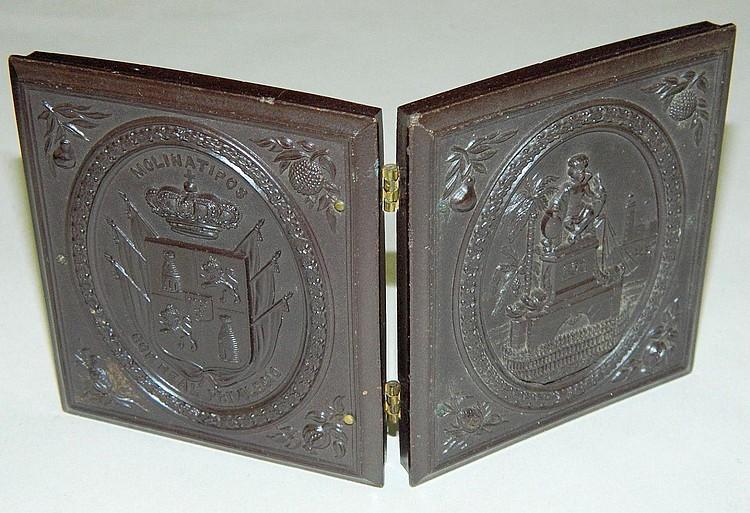 Tin type in gutta percha frame
