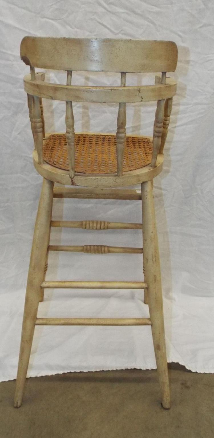 High Chair With Caned Seat