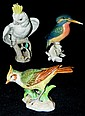 Group of 3 porcelain bird figurines