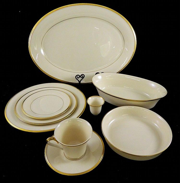 """Set of Lenox dinnerware """"Eternal"""""""