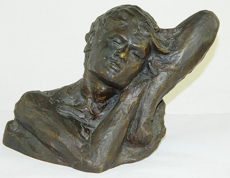 Victor Salmones bronze sculpture
