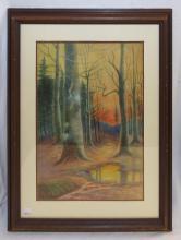 Watercolor Landscape Signed A. Regester