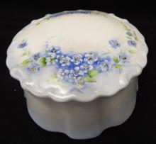 Hand Painted Porcelain Trinket Jar