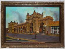 L. M. Phillips Oil On Canvas Of Union Station