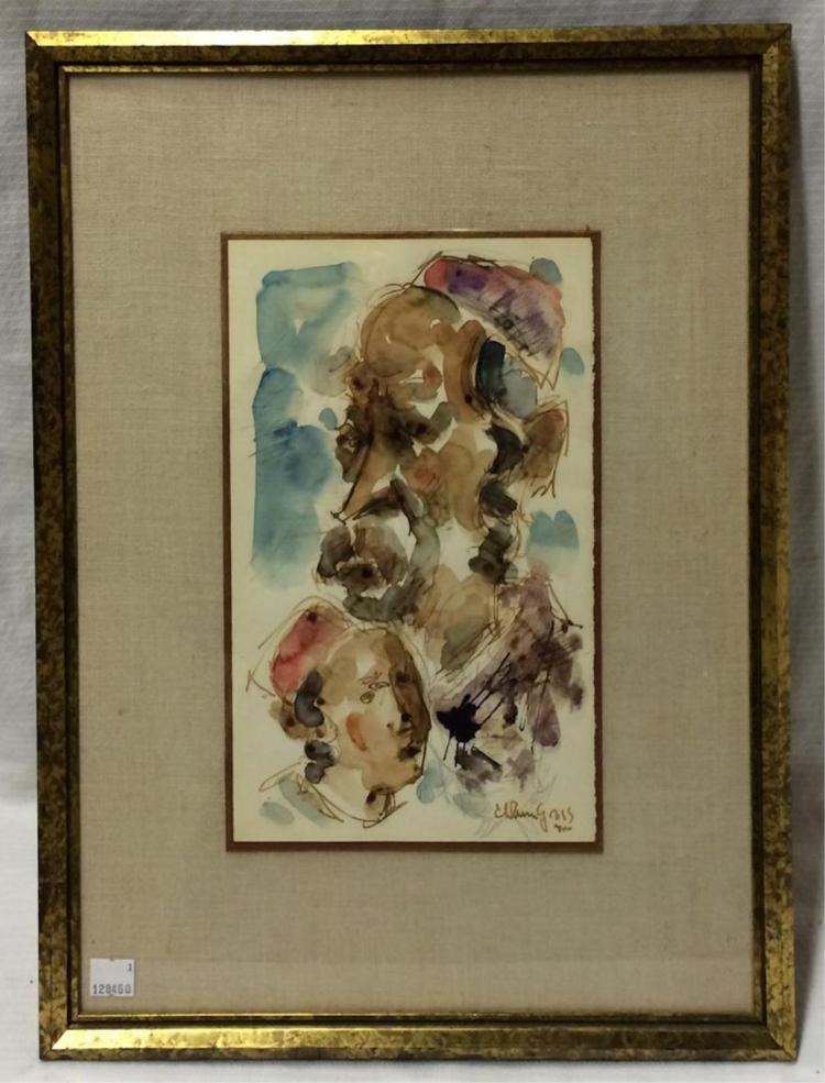 Chaim Gross Watercolor