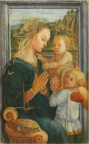 Oil on canvas, Vergine adorante Lippi
