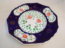 Gaudy Welsh Polychrome Decorated Plate
