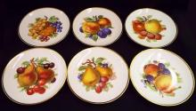 Set Of 6 Mittterteich Bavaria Germany Fruit Plates