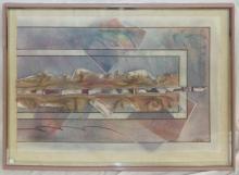 Artist Signed Art Collage, Framed