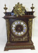 Mantle Clock With Figural Ormolu