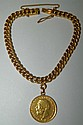 14 kt. gold bracelet with 1925 gold coin