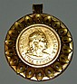 18 kt. gold coin pin