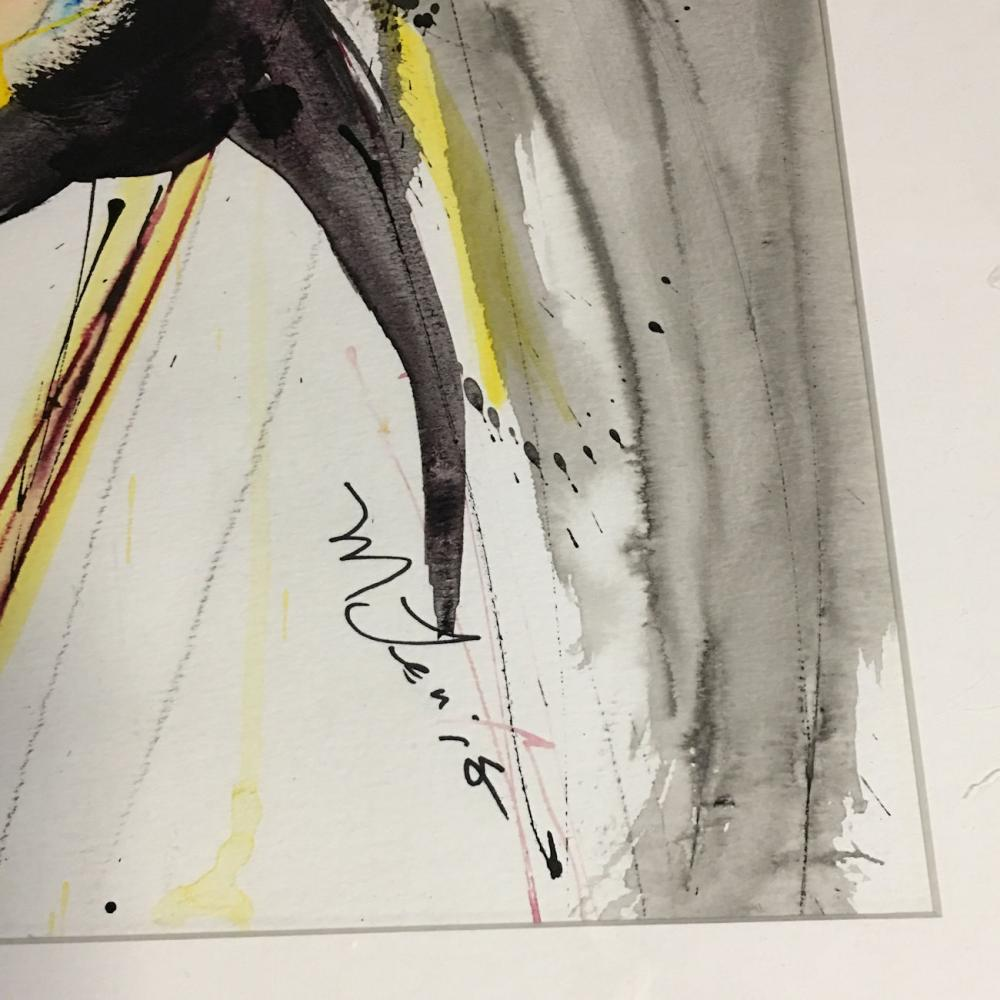 Signed Watercolor / Mixed Media Abstract