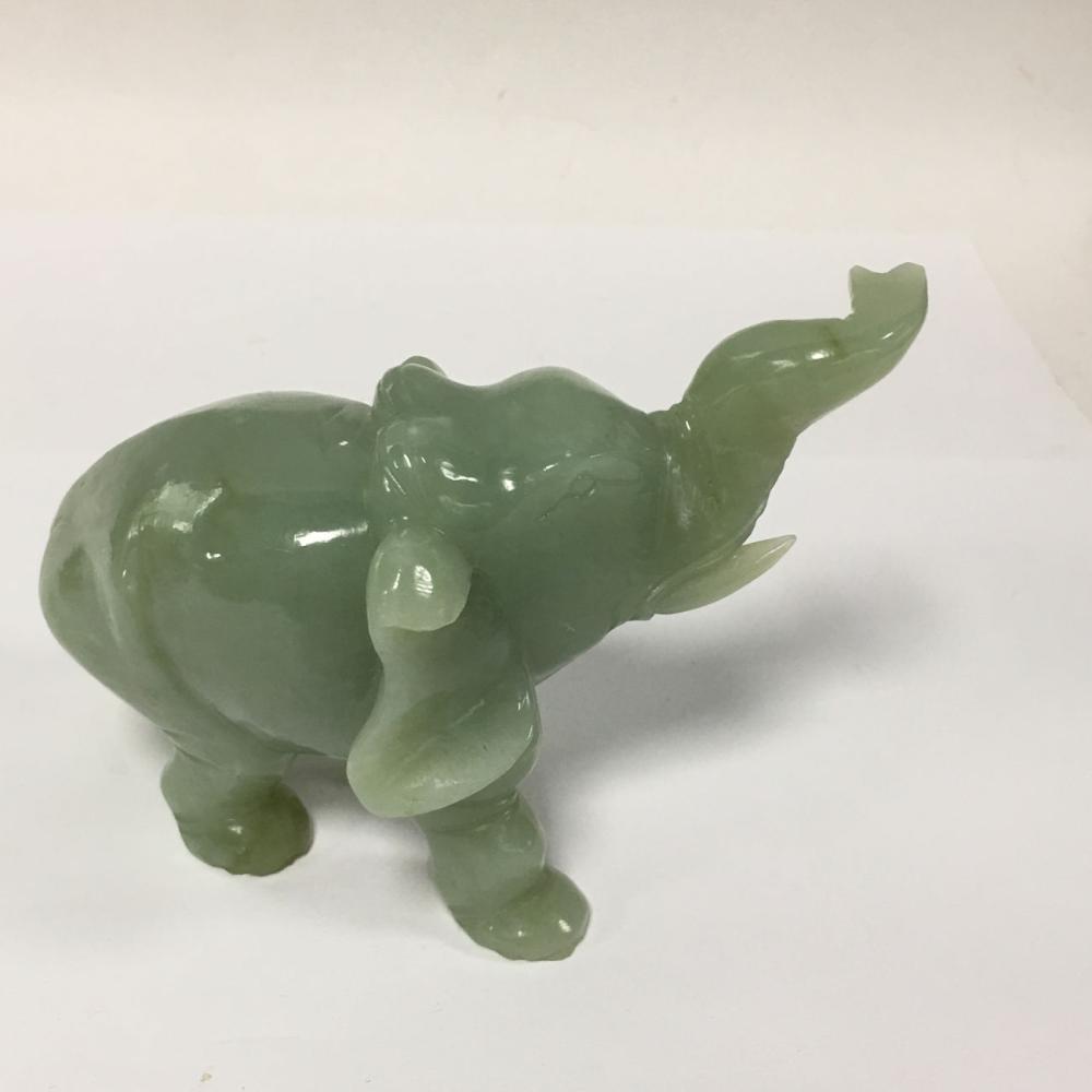 Hardstone Carved Elephant Sculpture
